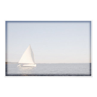 Sail Boat Stationery Design