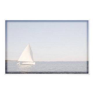 Sail Boat Stationery Design