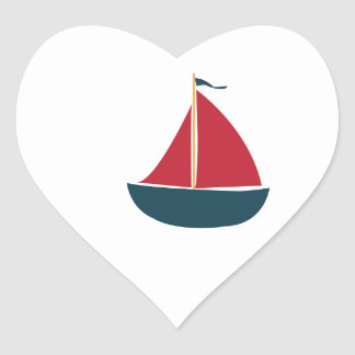 Sail Boat Heart Stickers
