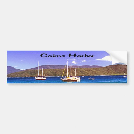Sail Boats in Cairns Harbor Bumper Sticker