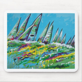 sail boats mouse pad