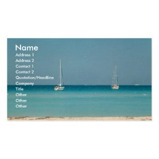 Sail Boats Ocean Sanibel Island Florida Card Photo Business Card