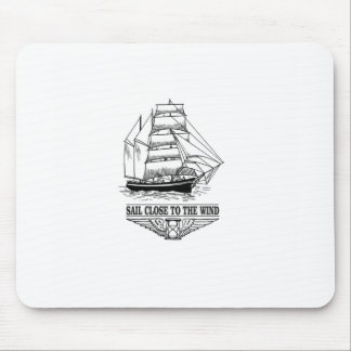 sail close to the wind safety mouse pad