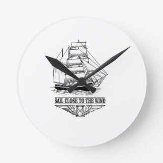 sail close to the wind safety wallclocks