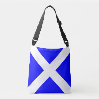 Sail Flag Letter M Mike Nautical Pattern Crossbody Bag