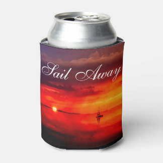 Sail into the Sunset Can Cooler