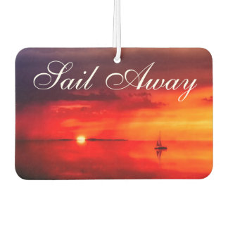 Sail into the Sunset Car Air Freshener