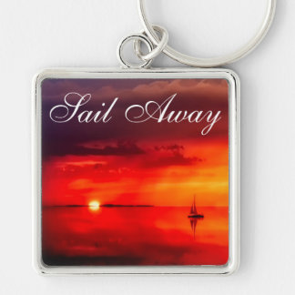 Sail into the Sunset Key Ring