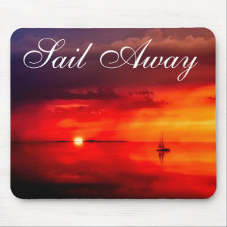 Sail into the Sunset Mouse Pad