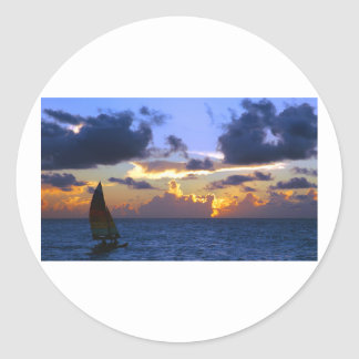 sail into the sunset stickers