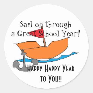 Sail on through Great School Year Sticker!