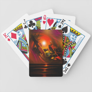 Sail romance bicycle playing cards