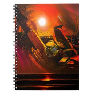 Sail romance spiral notebook