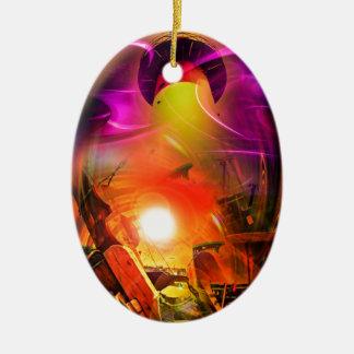 Sail romance - time tunnel ceramic ornament