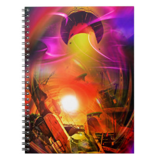 Sail romance - time tunnel spiral notebook