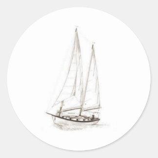sail round sticker