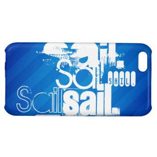 Sail; Royal Blue Stripes iPhone 5C Case