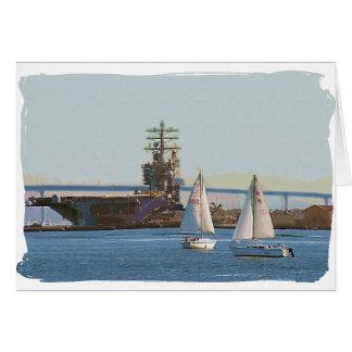 Sail San Diego Greeting Card