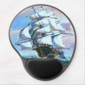 Sail Ship Painting Gel Mouse Pad