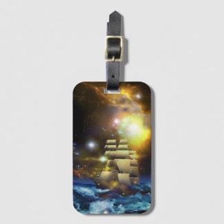 Sail Ship Universe Luggage Tag