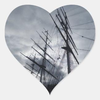 Sail Shrouds Heart Sticker