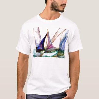 Sailboat Abstract - CricketDiane Ocean Art T-Shirt