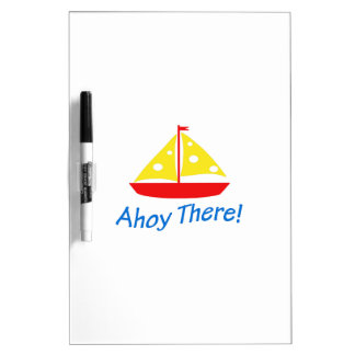 SAILBOAT AHOY THERE DRY ERASE WHITEBOARDS