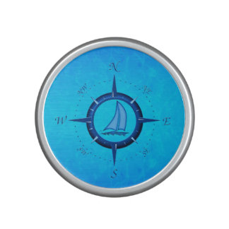 Sailboat And Compass Rose Bluetooth Speaker
