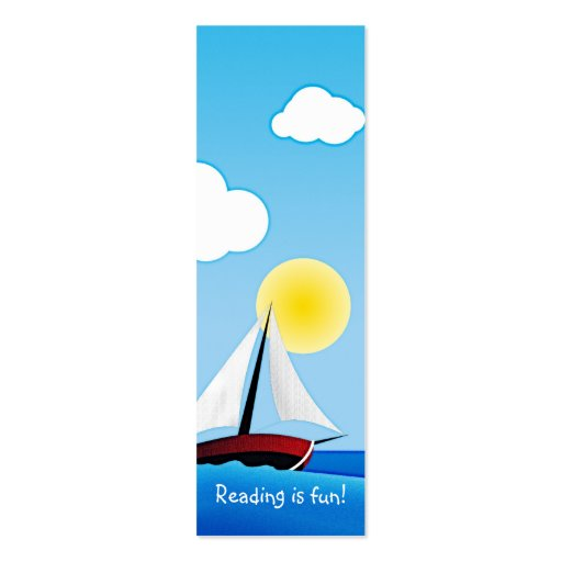Sailboat and sun - bookmark business card templates