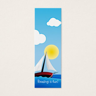 Sailboat and sun | bookmark mini business card