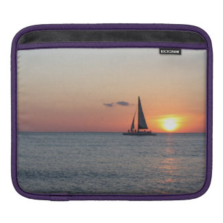 Sailboat and sunset iPad sleeve for iPad 1, 2 or 3