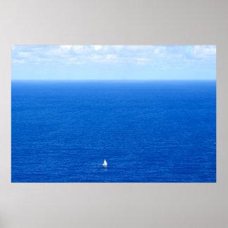sailboat and the horizon 2 poster