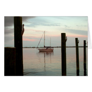 Sailboat at Dusk- Card