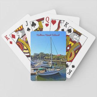 Sailboat At Shelter Cove Marina Hilton Head Island Playing Cards