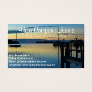 Sailboat At Sunset Business Card