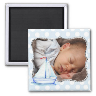 Sailboat Baby Photo Magnet