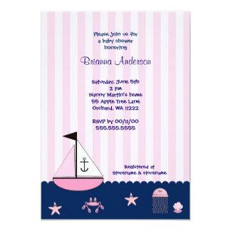 Sailboat Baby Shower Invite / under the sea