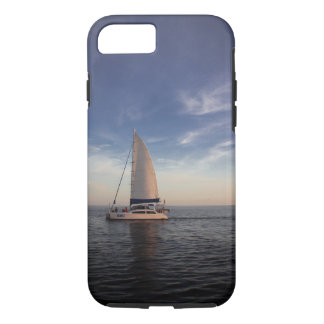 Sailboat Before Sunset - Phone Case