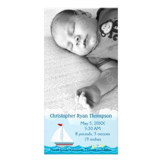 Sailboat Birth Announcement Photo Card