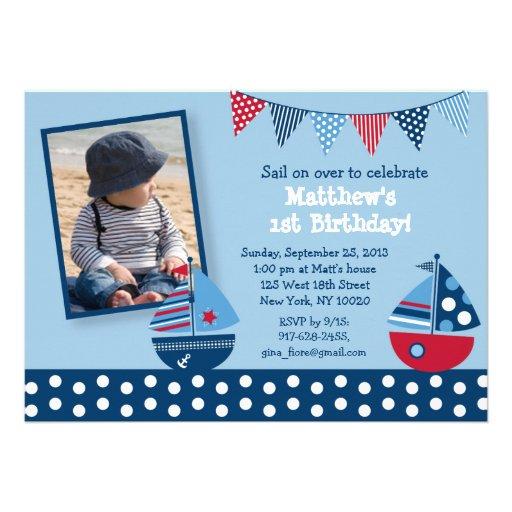 Sailboat Birthday Invitations