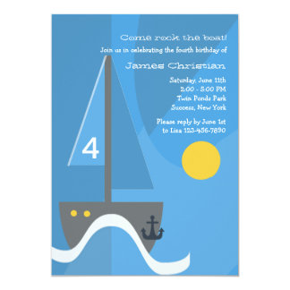 Sailboat Birthday Party Invitation