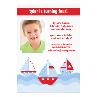 Sailboat Birthday Party Invitation