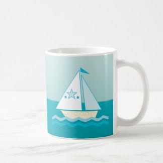 Sailboat (blue) coffee mug