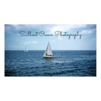 Sailboat, Blue Ocean Sea Nautical Cruising Pack Of Standard Business Cards