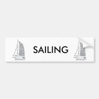 SAILBOAT BUMPER STICKER