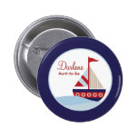 Sailboat Button Badge