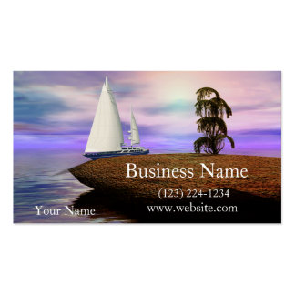 Sailboat by a Deserted Island Pack Of Standard Business Cards