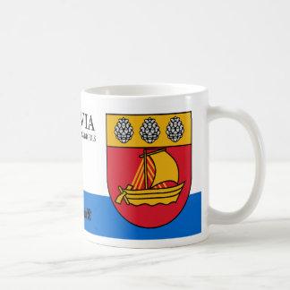 Sailboat Coat of Arms from Valdemarpils Latvia Coffee Mug