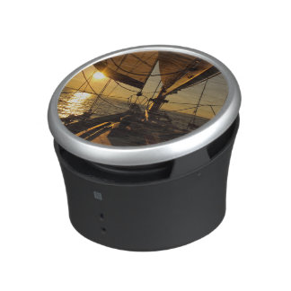 Sailboat Deck, Heading Into Setting Sun Bluetooth Speaker