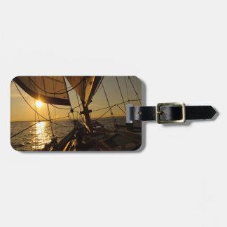 Sailboat Deck, Heading Into Setting Sun Luggage Tag